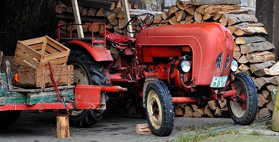 Oldtimerreifen-Traktor