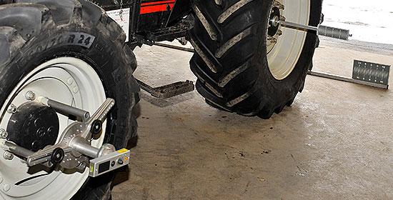 Traktorreifen-Vermessung